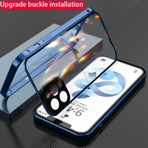 360° Full Double Glass Case For iPhone 12 Pro Max 11 X XR 8 7 SE 2nd Metal Cover