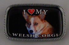 I Love My Welsh Corgi Antique Silver Belt Buckle Usa Made