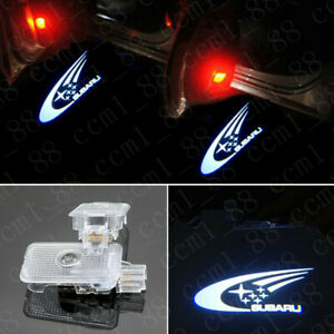 2x Car LED Door Ghost Logo Projector Puddle Light For Subaru Forester Outback XV