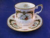 VINTAGE QUEENS ROSINA CHINA CO,  LTD. TEA CUP AND SAUCER - ORNATELY DECORATED.