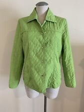 COCOON HOUSE Women's Jacket Large L Green Button Up Coat Light Weight