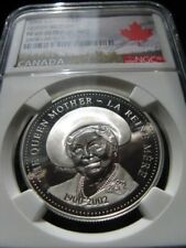 **2002**Queen Mother, NGC Graded Canadian Silver Dollar **PF-69 UC**