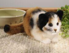 Tortoiseshell Cat Crouching - plush collectors soft toy by Kosen / Kösen - 7270