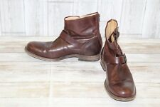 Frye Tyler Engineer Boot - Men's Size 9.5 M, Dark Brown (Repair)
