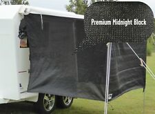 PREMIUM Jayco / Coromal Camper Bagged Bed Flys (both ends) - Midnight Black