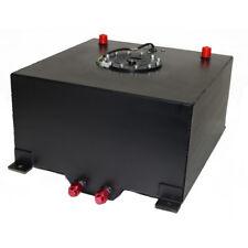 13 Gallon/50 Litre Black Aluminum Racing Drift Fuel Cell Tank & Level Sender Cap