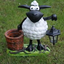 Schaf Molly mit Solarlaterne Pflanztopf Tierfigur Dekofigur Gartenfigur Deko