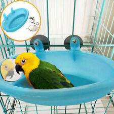 Kleiner Papagei Vogel Badewanne Haustier Käfig Zubehör Vogel Spiegel Blau B D1Q7
