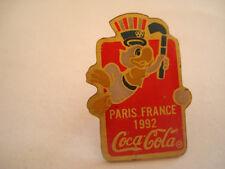 PINS COCA COLA PARIS FRANCE 1992 SODA
