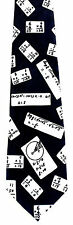 Math Equations Mens Necktie Teacher Arithmatic Algebra Education Blue Tie New