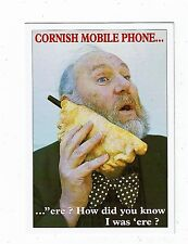 CORNISH POST CARD TITLED A CORNISH MOBILE PHONE