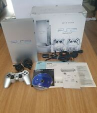 Sony PlayStation 2 Satin Silver Console - Boxed with One Official Controller