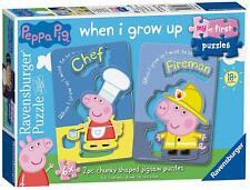 Ravensburger 6x 2pc Chunky Shaped Jigsaw Puzzles Peppa Pig 06969