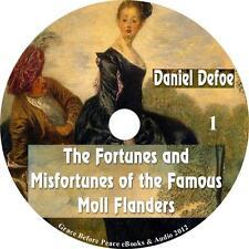 Moll Flanders, Social Political Audiobook Novel by Daniel Defoe on 1 MP3 CD