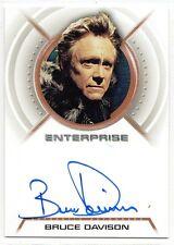 Star Trek Enterprise Autograph Bruce Davison A20 Menos