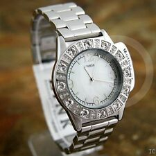 NWT Watch GUESS Crystal SPARKLE PEARL G86060L