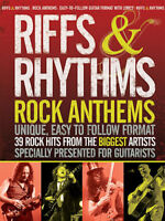 RIFFS & RHYTHMS 39 ROCK ANTHEMS SONG BOOK SHEET MUSIC SONGBOOK CREED MUSE U2 ETC
