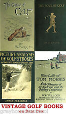 Golf Collection Vintage Golfers Golfing Books on Data Disc Links History Humour