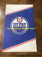 WAYNE GRETZKY 1980/81 Molson Cup Winner FOLDER Edmonton OILERS GREAT Rare WOW