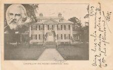 CAMBRIDGE MA – Longfellow and House – udb – 1907