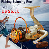 US New 12BB Ball Bearing Saltwater Freshwater Fishing Spinning Reel EF500-9000