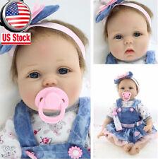 22'' Lifelike Newborn Silicone Vinyl Reborn Baby Doll Handmade Girl Doll NEW Gif