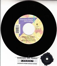 "PRINCE  Diamonds And Pearls 7"" 45 rpm vinyl record + juke box title strip NEW"