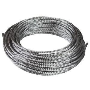 WIRE ROPE - Galvanised steel - 1.5mm Diameter - 7x7 construction - 5metre Length