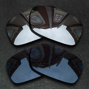 US Black&Silver Polarized&Anti-Scratch Replacement Lenses for-Oakley Crankcase