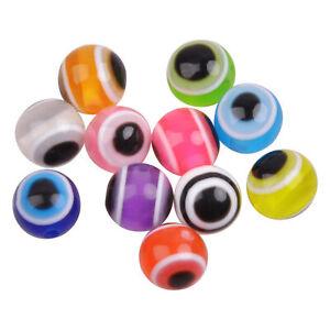 80pcs Fishing Beads Eyes Acrylic Fishing Line Beads Mixed Color Rigging Fish Eye