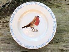 "Emma Bridgewater RARO ORIGINALE Natale Robin. 8-1/2"" PIASTRA Birds"