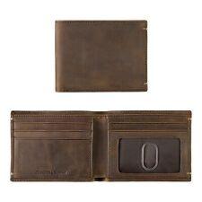 Johnston & Murphy RFID Slimfold Leather Mens Wallet Tan Oiled Full Grain 14091
