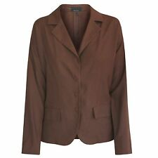PRADA light-weight drop shoulder blazer snap front brown jacket 38-IT/2-US