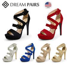 DREAM PAIRS Women's Stilettos Platform High Heel Sandals Open Toe Wedding Party