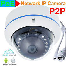 CCTV 15IR Outdoor Network POE DOME IP 720P 1.0MP CCTV CAMERA SYSTEM ios android