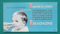 ESKADIAZINE Children Medication Smith Kline Co Philadelphia - 1960s INK BLOTTER