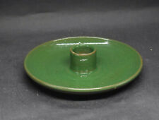 Vintage Rowantrees Studio Pottery Blue Hill Maine Green Candle Holder