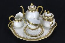 Vintage Limoges Porcelain Levi Strauss & Sons Tea Set  Tray, 2 cups and Saucers