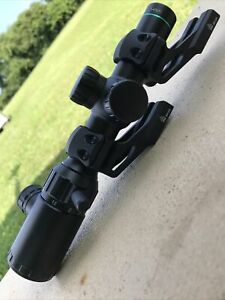 Monstrum 1-4x20 LPVO Scope With UTG Cantilever Rings