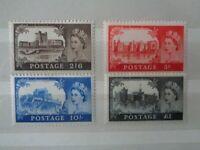 GREAT BRITAIN 1967 CASTLES HIGH VALUES 2/6 - £1 4v MINT MNH SG759/762