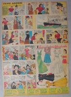 Jane Arden Sunday with Large Uncut Paper Doll from 11/12/1939 Tabloid Size Page!