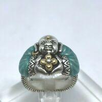 Barbara Bixby Sterling Silver 18K Ring SZ 6.5 Gold Lotus With Pouch