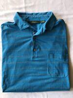 Bobby Jones Polo Shirt Large Blue Pima Cotton Men's Golf