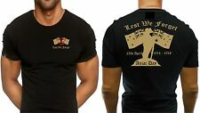 Anzac Lest We Forget Australian Patriotic Army Navy Air Force Defence T Shirt