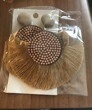 Boho Festival Party Boutique Uk Crystal Gold Bling Drop Tassel Fashion Earring