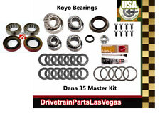Master Bearing Overhaul Rebuild Kit Dana 35 M35 Jeep TJ Wrangler w/ Axle Brg Kit