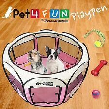 "Pet4Fun PN935 Portable Pet Playpen 35"" Exercise Puppy Dog Pen Kennel Folding PNK"