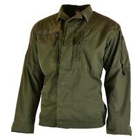 Original Austrian BH army combat shirt jacket ripstop military olive drab