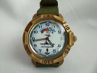 Wrist Watch VOSTOK WOSTOK Komandirskie Soviet USSR + New Nato Strap/ Serviced