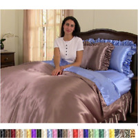 Sweet Dreams Satin Duvet Cover, 17 Colors, 4 Sizes Available
